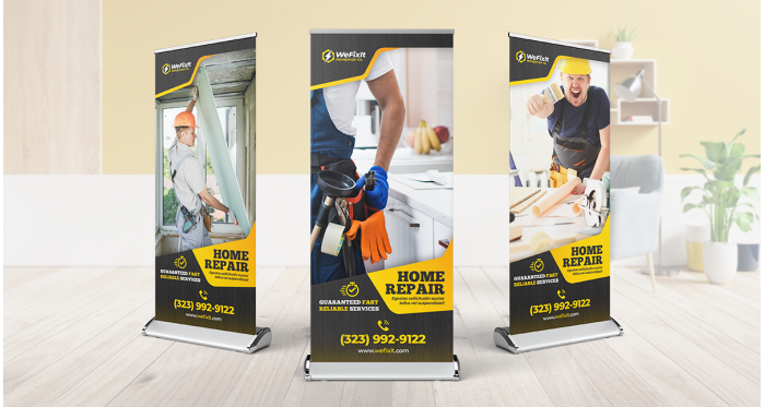 33x81 inches | Deluxe Retractable Stand