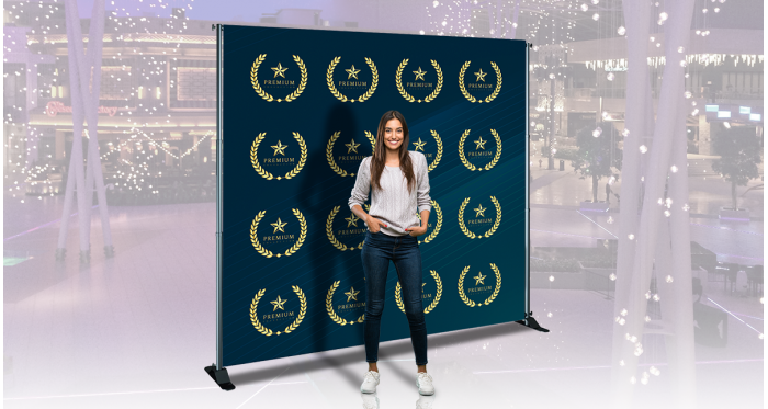 Adjustable Backdrop Banner Stands